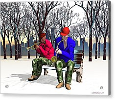 Jazzmas In The Park 1 Acrylic Print by Walter Oliver Neal