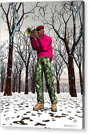 Jazzmas In The Park 2 Acrylic Print by Walter Oliver Neal
