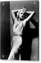 Jean Harlow, 1930s Acrylic Print by Everett