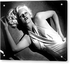 Jean Harlow, Fashion Still For Dinner Acrylic Print by Everett