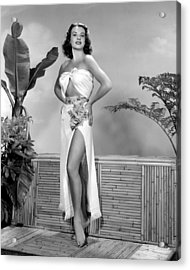 Jean Peters, Ca. Early 1950s Acrylic Print by Everett