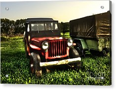 Jeep Seen Better Days Acrylic Print by Dan Friend
