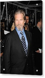 Jeff Bridges At Arrivals For Crazy Acrylic Print by Everett