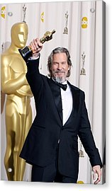 Jeff Bridges, Best Actor For Crazy Acrylic Print by Everett