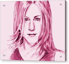 Jennifer Aniston Acrylic Print by Attila Dancsak