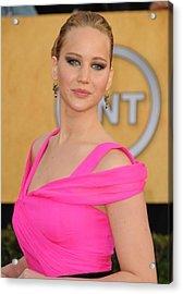 Jennifer Lawrence Wearing An Oscar De Acrylic Print by Everett