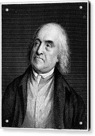 Jeremy Bentham, English Social Reformer Acrylic Print by Middle Temple Library