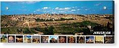 Jerusalem Poster Acrylic Print by Munir Alawi