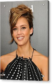 Jessica Alba At Arrivals For World Acrylic Print by Everett