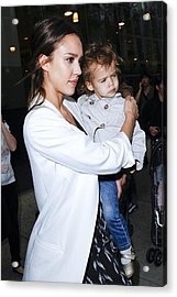 Jessica Alba, Honor Marie Warren Acrylic Print by Everett