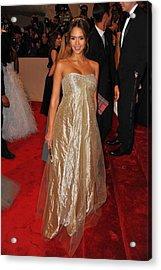Jessica Alba Wearing Ralph Lauren Acrylic Print by Everett