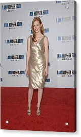 Jessica Chastain At Arrivals For I Am Acrylic Print by Everett