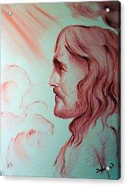 Jesus In His Glory Acrylic Print by Raymond Doward