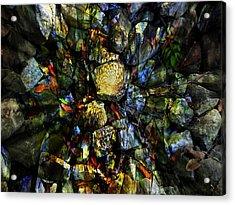 Jeweled Cavern Acrylic Print by Mindy Newman