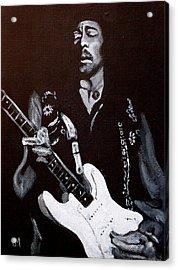 Jimi Hendrix Acrylic Print by Pete Maier