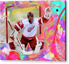 Jimmy Howard Acrylic Print by Donald Pavlica
