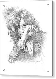 Jimmy Page In Person Acrylic Print by David Lloyd Glover
