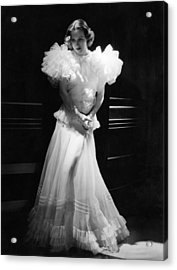 Joan Crawford, Mgm Portrait By Hurrell Acrylic Print by Everett