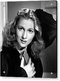 Joan Fontaine, Portrait, 1940s Acrylic Print by Everett