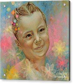 Joana's Portrait Acrylic Print by Karina Llergo