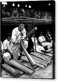 Joe Chamberlain - Chicago White Sox Acrylic Print by David Bearden