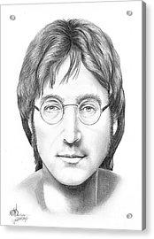 John Lennon Acrylic Print by Murphy Elliott