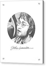 John Lennon Acrylic Print by Six Artist