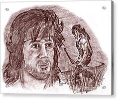 John Rambo Acrylic Print by Chris  DelVecchio