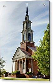 John Wesley Raley Chapel Acrylic Print by Ricky Barnard