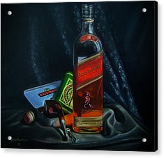 Johnnie Walker  Acrylic Print by Epifanio jr Mendoza
