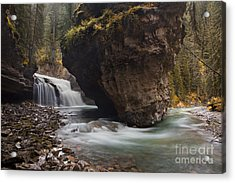 Johnston Creek Waterfall Acrylic Print by Keith Kapple