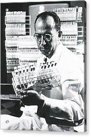 Jonas E. Salk 1914-1995, American Acrylic Print by Everett