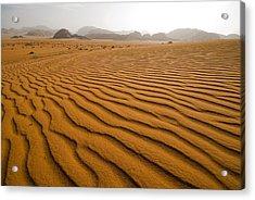 Jordan Wadi Rum Sand Dunes Pattern Acrylic Print by Jason Jones Travel Photography
