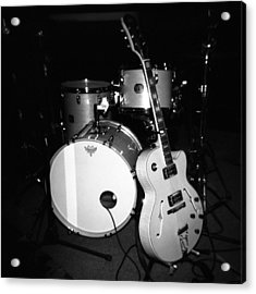 Jp Soars Guitar And Drum Kit Acrylic Print by Kathy Hunt