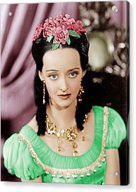 Juarez, Bette Davis, 1939 Acrylic Print by Everett