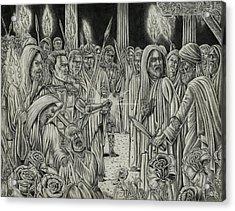 Judas In Garden Acrylic Print by Vincnt Clark