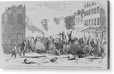 July 4 1857 Battle On Bayard Street Acrylic Print by Everett