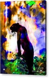 Jungle Cat On The Prowl Acrylic Print by Elinor Mavor