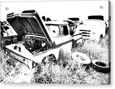 Junkyard Infrared 2 Acrylic Print by Matthew Angelo