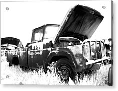 Junkyard Pickup Acrylic Print by Matthew Angelo