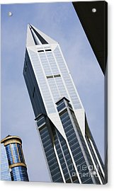 Jw Marriott Tower In Downtown Shanghai Acrylic Print by Jeremy Woodhouse
