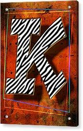 K Acrylic Print by Mauro Celotti