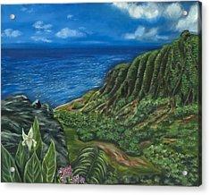 Kalalau Valley Acrylic Print by Brandon Hebb
