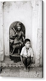 Kali In Benares Acrylic Print by Shaun Higson