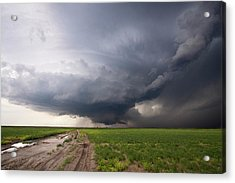 Kansas Distant Tornado Vortex 2 Acrylic Print by Ryan McGinnis