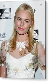Kate Bosworth Wearing A Dolce & Gabbana Acrylic Print by Everett