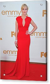 Kate Winslet Wearing An Elie Saab Dress Acrylic Print by Everett