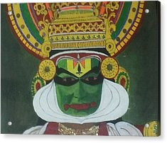 Kathakali Acrylic Print by Shashi Kumar
