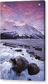 Kathleen Lake At Sunrise, Kluane Acrylic Print by Robert Postma