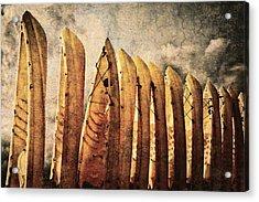 Kayaks Acrylic Print by Skip Nall